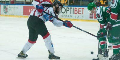 """Optibet hokeja līgas regulārā čempionāta spēle starp HK """"Liepāja/Optibet"""" un HK """"Zemgale/LLU"""" LOC ledus hallē, Liepāja, 2018. gada 03. februāris."""
