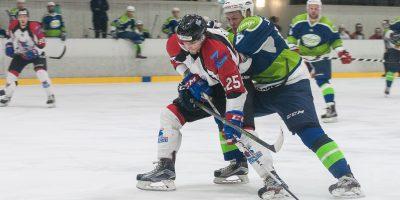"""Optibet hokeja līgas regulārā čempionāta spēle starp HK """"Mogo"""" un HK """"Zemgale/LLU"""" Mogo ledus hallē, Rīgā, 2018. gada 31. janvārī."""