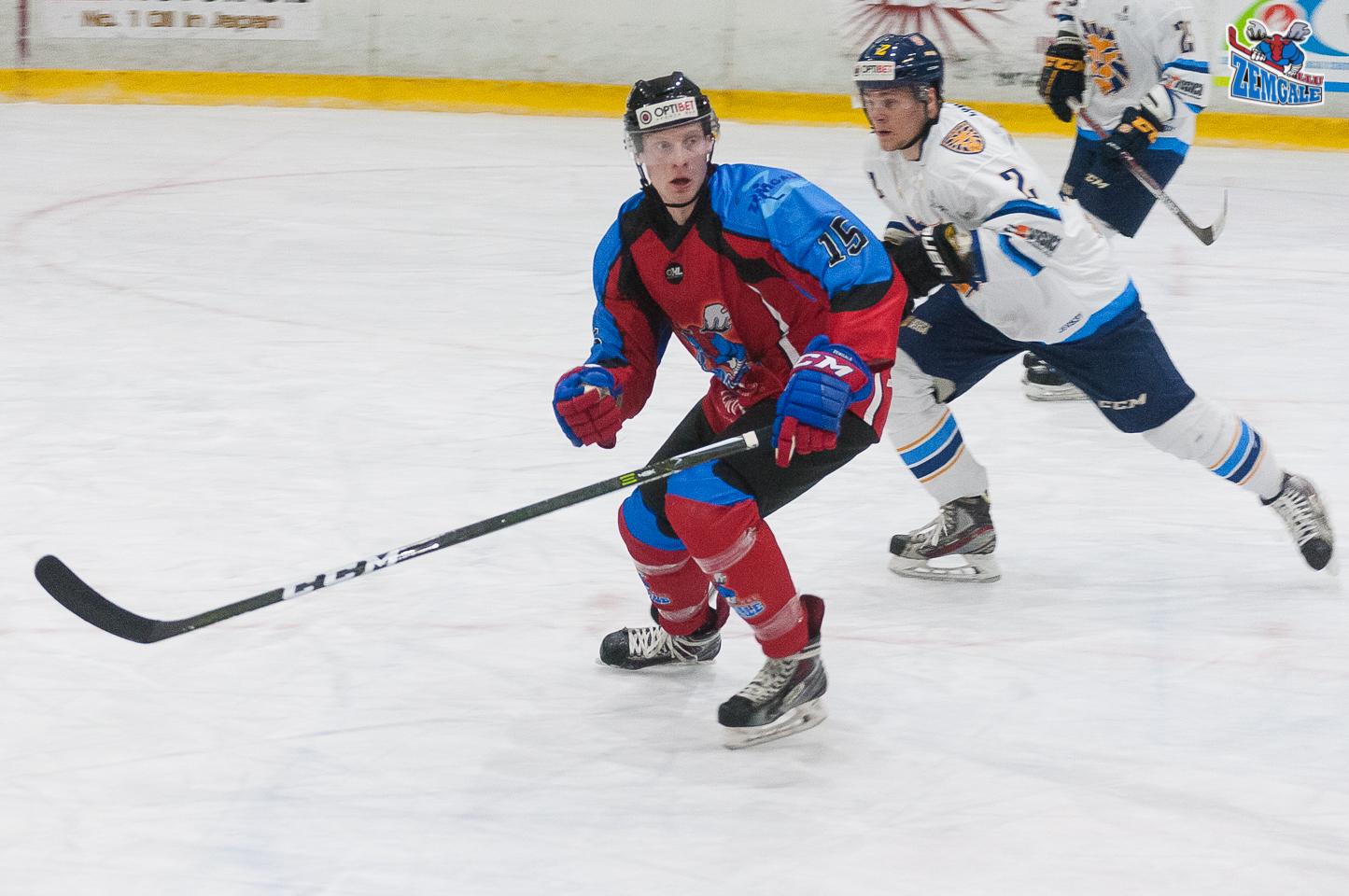 Optibet hokeja līgas regulārā čempionāta spēlē Zemgale/LLU uzvar HS Rīga ar rezultētu 2:0 Jelgavas ledus hallē 2017. gada 25. oktobrī.