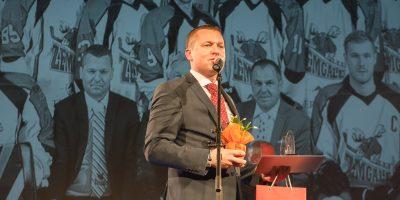 Jelgavas sporta laureātu apsveikšanas pasākums Jelgavas kultūras namā 2017. gada 28. decembrī.