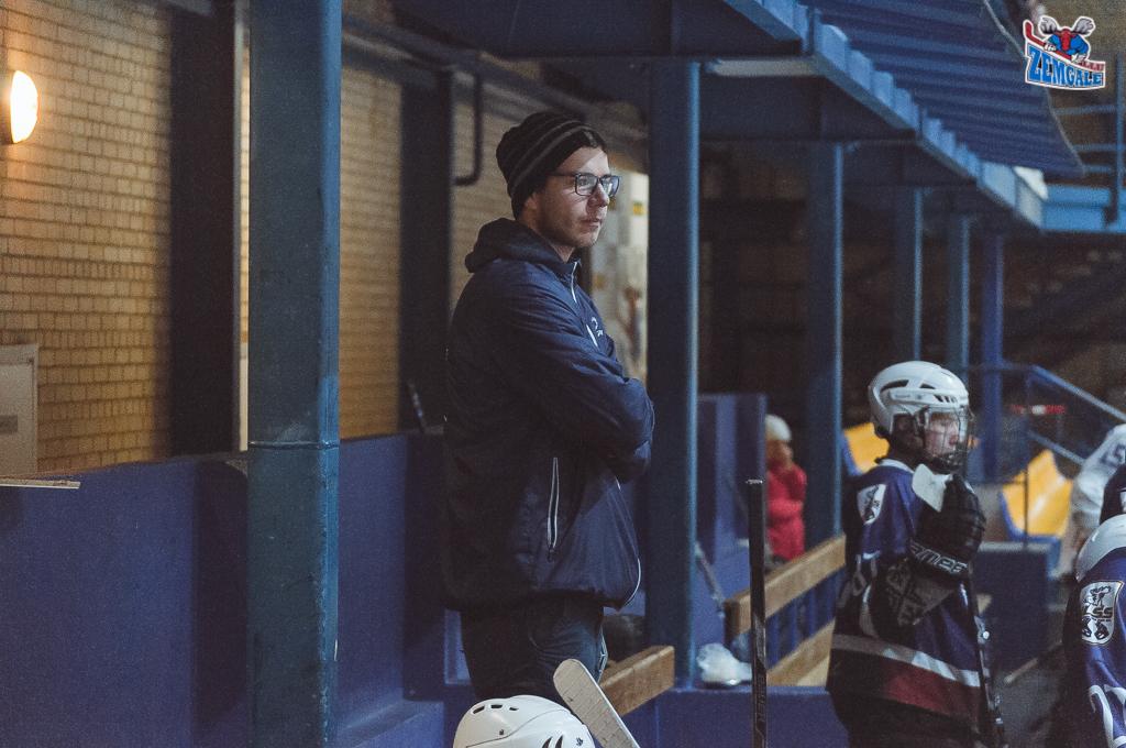 """Latvijas bērnu un jauniešu čempionāta spēle starp """"JLSS U16"""" un """"IHS/Pārdaugava"""" Jelgavas ledus hallē Jelgavā 2018. gada 07. janvārī."""