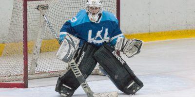 """Latvijas sieviešu hokeja čempionāta regulārā turnīra spēlē starp """"L&L/JLSS"""" un """"Hockey Girls"""" (Lietuva) Jelgavas ledus hallē 2018. gada 20. janvārī."""