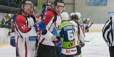 """Optibet hokeja līgas izslēgšanas kārtas otrā spēle starp """"Mogo"""" un """"Zemgale/LLU"""", Mogo ledus hallē, Rīgā, 2018. gada 25. februārī. Grundmanis"""