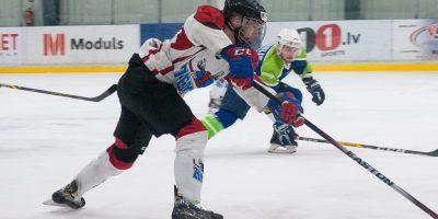 """Optibet hokeja līgas izslēgšanas kārtas otrā spēle starp """"Mogo"""" un """"Zemgale/LLU"""", Mogo ledus hallē, Rīgā, 2018. gada 25. februārī. Millers"""