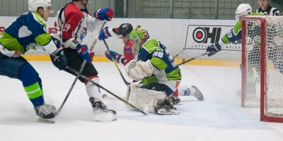 """Optibet hokeja līgas izslēgšanas kārtas otrā spēle starp """"Mogo"""" un """"Zemgale/LLU"""", Mogo ledus hallē, Rīgā, 2018. gada 25. februārī."""