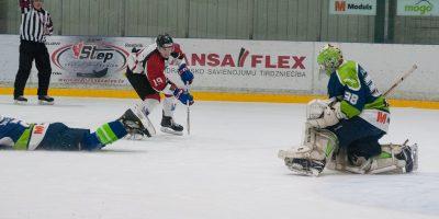 """Optibet hokeja līgas izslēgšanas kārtas otrā spēle starp """"Mogo"""" un """"Zemgale/LLU"""", Mogo ledus hallē, Rīgā, 2018. gada 25. februārī. Rybchik"""