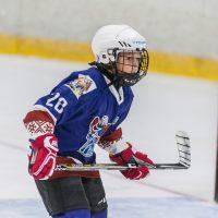 """LBJČH čempionāta spēle starp """"JLSS U11 A"""" un """"Pārdaugava"""" Jelgavas ledus hallē 2018. gada 9. septembrī."""