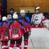 """Draudzības spēle starp HK """"JLSS U17"""" un """"Panter Tallinn"""" (Igaunija) Jelgavas ledus hallē 2018. gada 01. septembrī."""