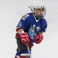 """LBJČH U11 vecuma grupas čempionāta spēle starp """"JLSS U11 A"""" un HS """"Kurbads"""" Jelgavas ledus hallē 2018. gada 07. oktobrī."""