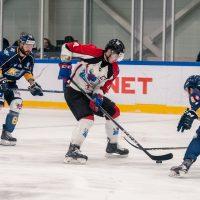 """Optibet hokeja līgas regulārā čempionāta spēle starp HK """"Kurbads"""" un HK """"Zemgale/LLU"""", Kurbads hokeja hallē, Rīga, 2018. gada 27. oktobrī."""