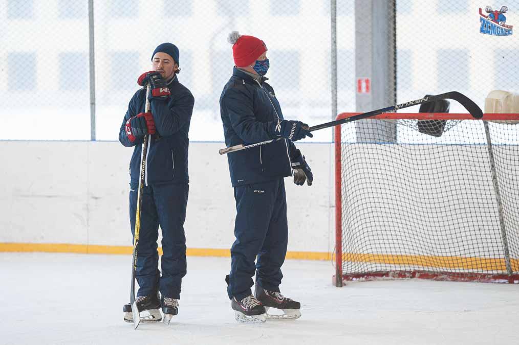 Jelgavas Ledus sporta skola (JLSS) U-11 vecuma grupas jauniešu treniņš Pasta salas slidotavā 2021. gada 24. februārī | Foto: Ruslans Antropovs